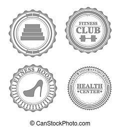 Set of sports emblems, vector