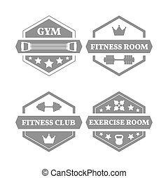 Set of sports emblems , vector