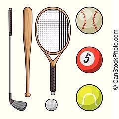 set of sports icon