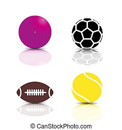 Set of sports icons, vector illustration.