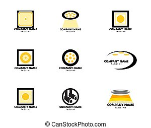 Set of Spotlight icon vector logo illustration