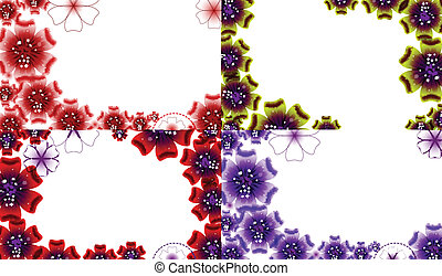 Set of Spring background for the design flowers. Vector