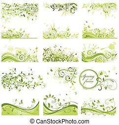 Set of spring backgrounds