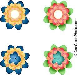 Set of spring flower