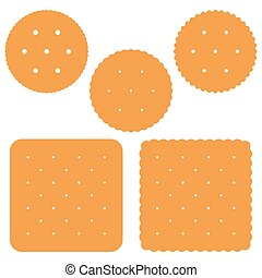 Set of square and round Cracker