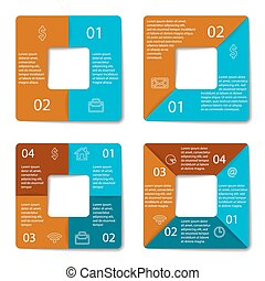 Set of square infographic