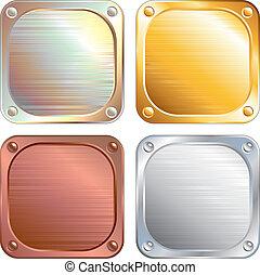 Square Metallic Panels