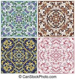 Set of square patterns