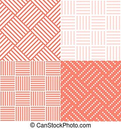 set of square tile, seamless pattern