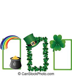 Set of St. Patrick`s day banners, part 3, vector illustration