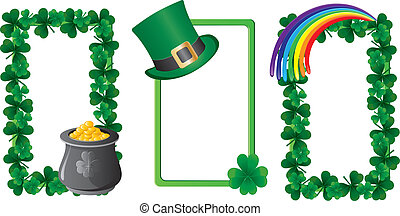 Set of St. Patrick`s day banners, part 6, vector illustration
