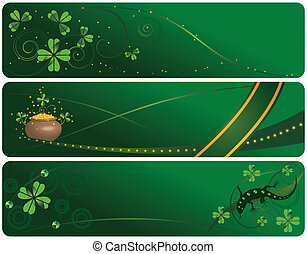 set of St. Patrick's Day banners