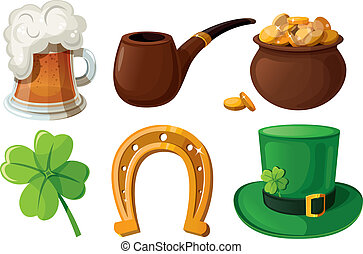 Set of St. Patrick's Day icons. Iso