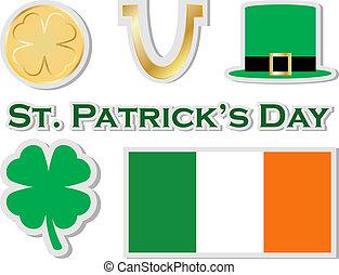 Set of St Patricks Day Stickers