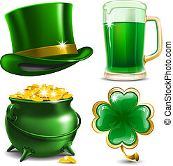St. Patrick's Day - Set of St. Patrick's Day symbols. Vector...