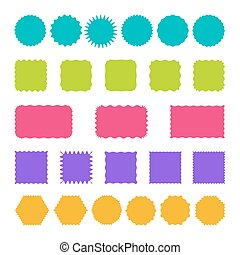 Set of stamps, badges and labels templates.