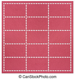 Set of stamps tempate isolated.