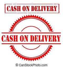 Cash on delivery stamp. Cash on delivery grunge rubber ...