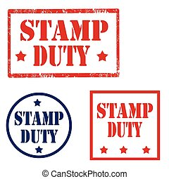 Stamp Duty - Set of stamps with text Stamp Duty, vector ...