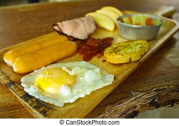 Set of standard breakfast