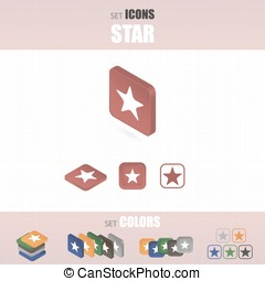Set of star icons.