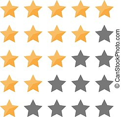 Set of star rating for app, banner, sign, flyer. Vector illustration