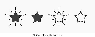 Set of stars icons.
