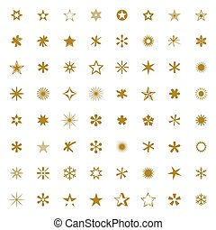 Set of Stars. Vector Illustration.