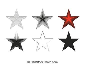 Set of stars vector illustration. Vector for design isolated on white background.