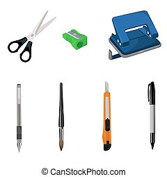 set of stationary, vector illustration