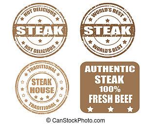 Set of  steak stamp