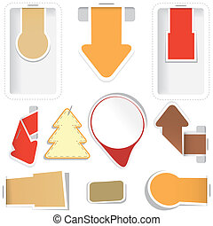 Set of sticker, arrow, tag. Vector collection.