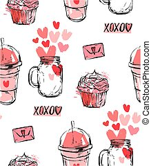 set of stickers, badges and labels for Valentine s day with hearts. a collection of icons to decorate and design the wedding or message of love. vector illustration