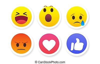 set of stickers emotions vector illustration