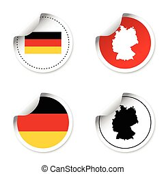 set of stickers - germany