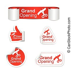 set of stickers - grand opening