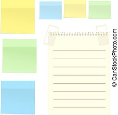 Set of stickers isolated on white