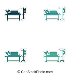 Set of stickers man on a drip white background