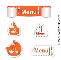 set of stickers - menu