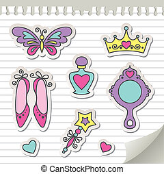 set of stickers