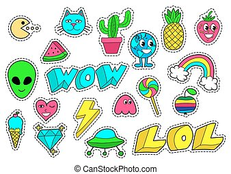 Set of stickers.
