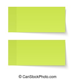 Set of sticky notes green