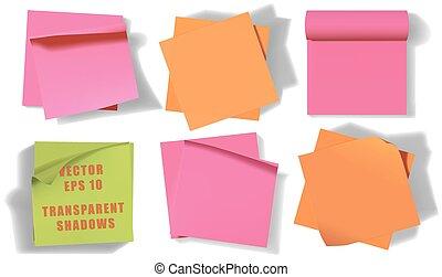 Set of sticky notes.