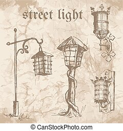 Set of street lamp