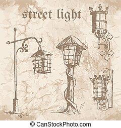 Set of street lamp