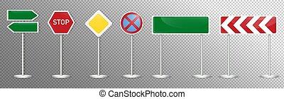 Set of street sign. Vector illustration