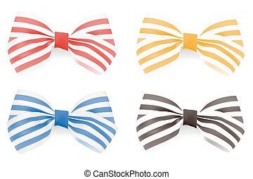 Set of Striped bows