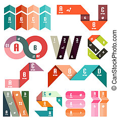 Set of stripes infographic design templates - Set of...