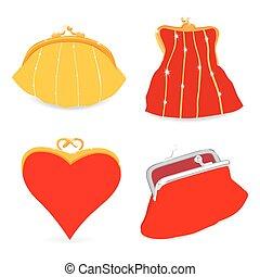 Set of stylish purse.