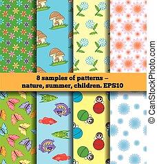 Set Of Summer Children's Fabric